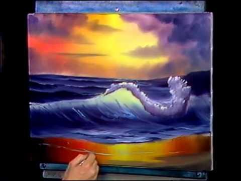 Bob Ross Malerei Meer Und Zum Sonnenuntergang Video