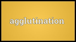 Agglutination Meaning
