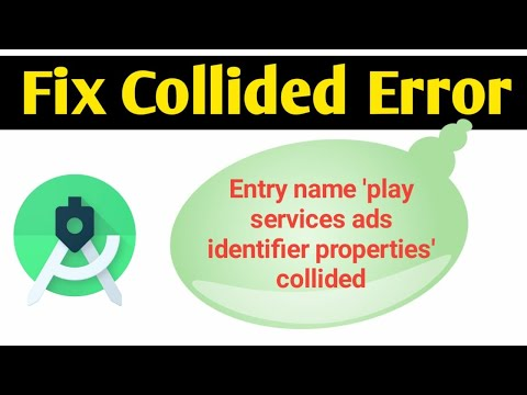 """Solution for """"Entry name 'play services ads identifier properties' collided"""" in Android Studio"""