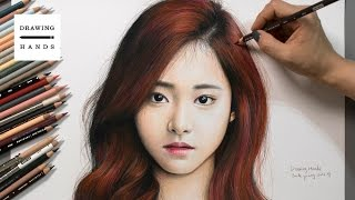 Speed Drawing TWICE - Tzuyu [Drawing Hands]