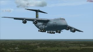 FSX C-5 Extreme Aerobatic Display at Dover AFB [PURE GRAPHICS[PURE FSX[NO EDITING]