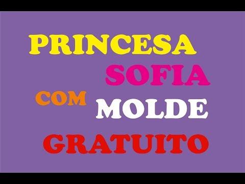 Princesinha Sofia De Feltro Com Molde Gratuito Sarah Silva