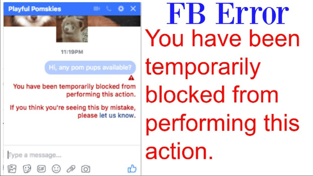 How to unblock facebook message OR You have been temporarily blocked from performing this