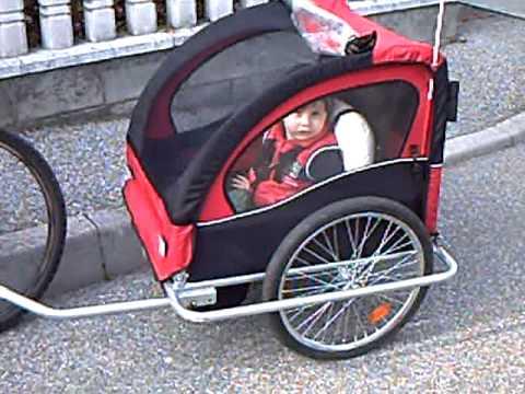 Carrello porta bimbo per bicicletta 13apr10 avi youtube - Carrello per bici porta cani ...