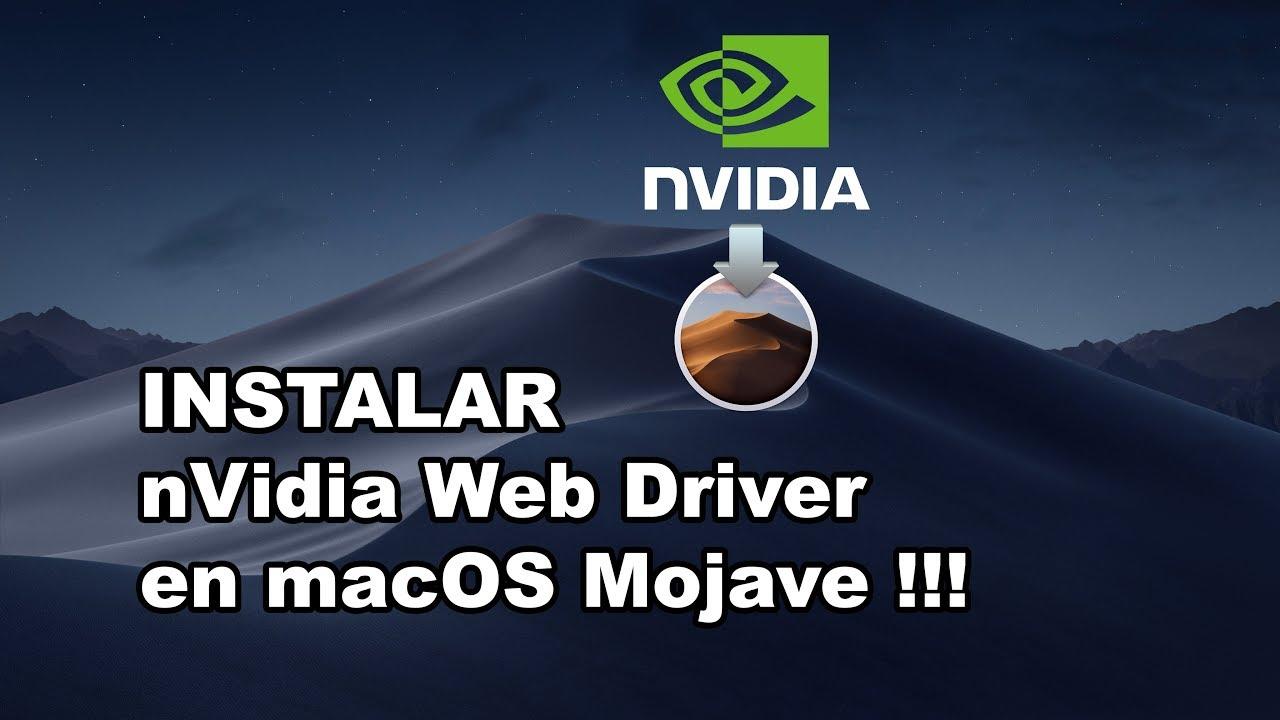 Cómo INSTALAR nVidia Web Driver en Mojave !!!