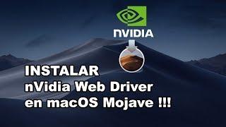 Hackintosh Mojave Nvidia Web Drivers