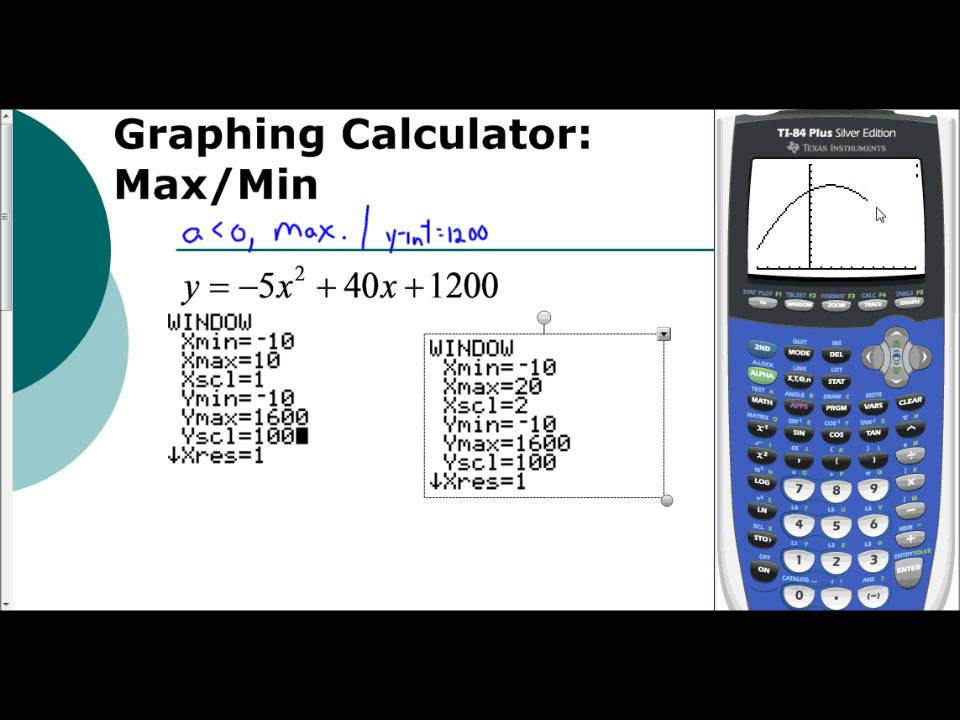 Lesson 5 1 Finding The Max Or Min Using The Graphing Graph and Velocity Download Free Graph and Velocity [gmss941.online]
