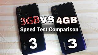 Realme 3 (4GB) vs Realme 3 (3GB RAM) Speed Test Comparison?