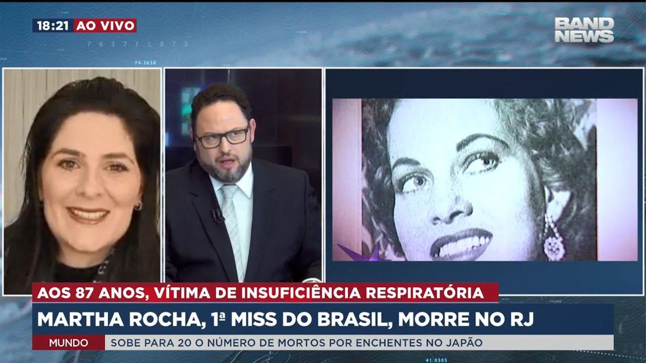 Martha Rocha, 1ª Miss Brasil, morre no RJ – Band Jornalismo