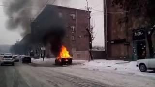 Արշակունյաց պողոտայում ամբողջությամբ այրվել է «Օպել» մակնիշի ավտոմեքենա