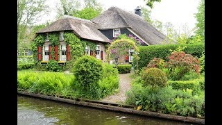 AMSTERDAM - GIETHOORN, Venice of the Netherlands, May 2017.