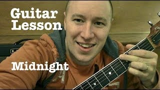 Midnight ★ Guitar Lesson ★ Coldplay    ★   (Todd Downing)