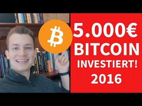 Warum ich 5000€ in Bitcoins investiert habe!