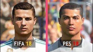 Fifa 18 Vs Pes 18: Real Madrid Faces Comparison HD