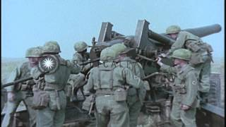 8-inch towed howitzer M115 of United States Army in United States. HD Stock Footage