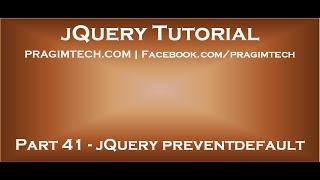 jQuery preventdefault