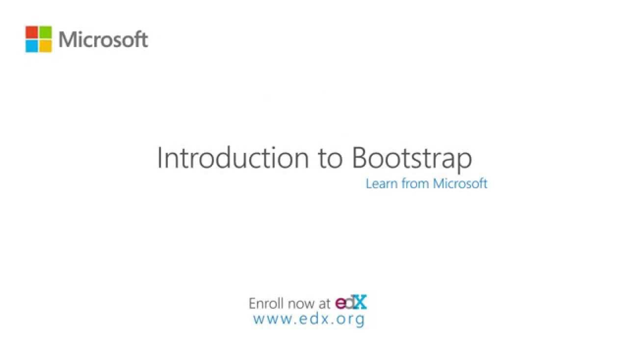 Introduction to Bootstrap – A Tutorial | Microsoft on edX