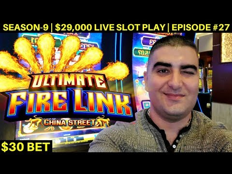 High Limit ULTIMATE FIRE LINK Slot Machine Bonus & Big Win  | Season 9 | Episode #27