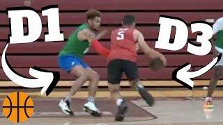 D1 Basketball Team vs D3 TEAM ?!