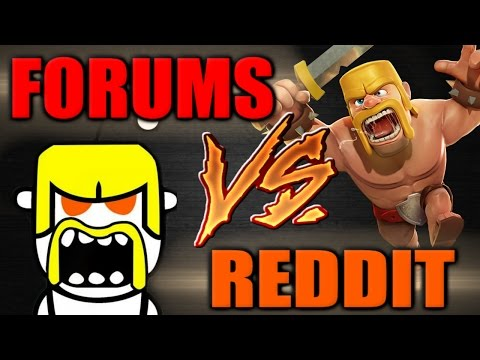 Clash of Clans | FORUMS vs REDDIT War Recap