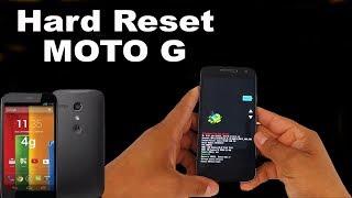 Hard Reset Motorola Moto G, G2  geração XT1032, XT1033, XT1068, XT1069, XT1078, formatar,
