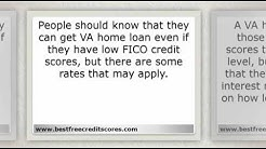 Can you get a VA Home Loan with a Low FICO Credit Score?