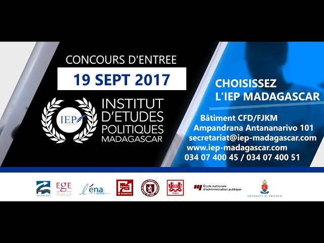 IEP Madagascar - Rentrée 2017-2018