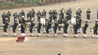 Indian Navy band performs at Beating Retreat ceremony, Delhi
