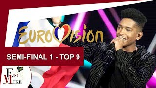 Download Destination Eurovision France 2018 [Semi - Final 1] - My Top 9 [With RATING] MP3 song and Music Video