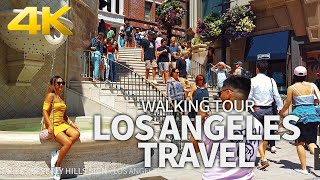LOS ANGELES TRAVEL - USA, WALKING TOUR (3 HOURS 13 MINUTES), Best Places To Visit in LA, 4K UHD