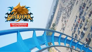Gatekeeper POV Cedar Point Roller Coaster Front Seat