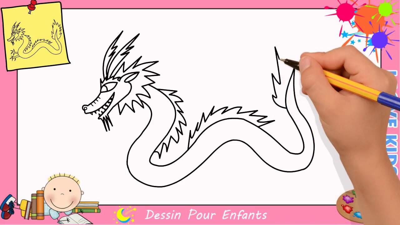 Comment Dessiner Un Dragon Facilement Mettre A Jour Pour Enfants 1