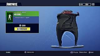 New MY IDOL Fortnite Emote Bass Boosted Earrape MEME
