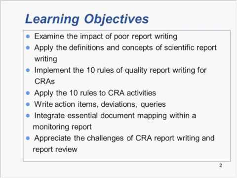 Monitoring Reports 10 Rules of Effective Report Writing Trailer