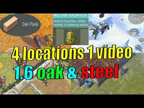 1.6 update Part 2 OAK and STEEL PLATES! LAST DAY ON EARTH military backpack