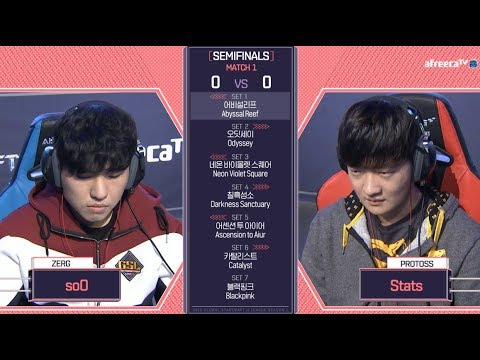 2018 GSL Season 1Code S Ro.4 Day1 Match1 soO vs Stats