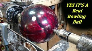 Woodturning - Turning A Bowling Ball