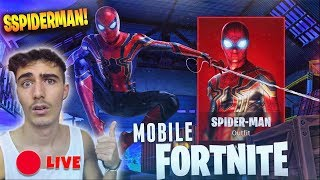🔴 LIVE 09/09/18!! - (ODDIO) THEY WILL PUT THE SPIDERMAN SKIN?!? Fortnite Mobile Royale!!