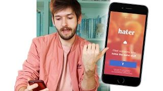 Finde die LIEBE mithilfe von HASS | Michi testet die Hater-App