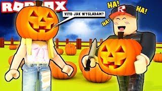 WYCINAMY STRASZNE MINY W DYNIACH 😂 (Roblox Pumpkin Carving Simulator) | Vito i Bella