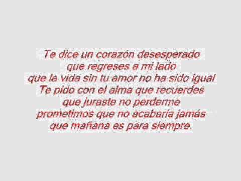 Alejandro Fernández-Mañana es para Siempre(Letra/Lyrics)