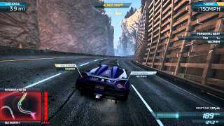 "NFS Most Wanted 2012: New World Record ""Needle Point"" 197.0 mph / 317.1 kmh - Koenigsegg Agera R Pro"
