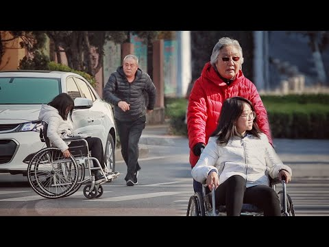 When a girl in a wheelchair crosses the street alone, what will passers-by do? from YouTube · Duration:  3 minutes 6 seconds