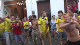 ¡ Cartagena en fiesta ! Copa del mundo: Colombia 4x1 Japao