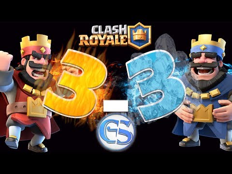 TOP 7 RARE 3-3 DRAW Battles | Clash Royale CLOSE Matches Compilation