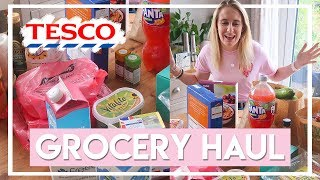 Weekly Grocery Haul + Meal Plan for 2! 🛒 (Tesco Food Haul) | Becky Excell