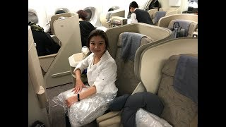 Asiana A380 Business Class LAX to ICN