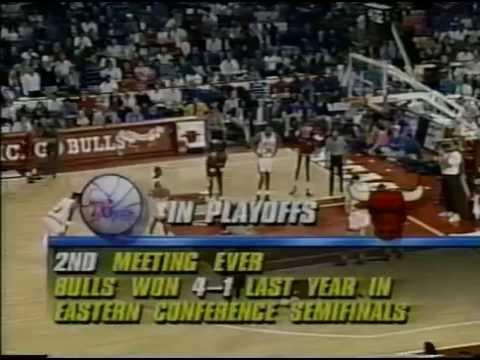 1991 Chicago Bulls vs Philadelphia 76ers. Game1. Part 2