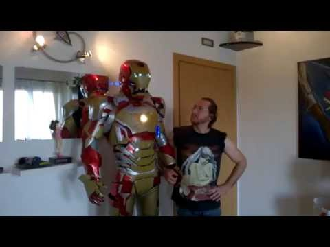 DANY BAO - IRONMAN MARK 42 WINNER LUCCA COMICS 2013 REAL ARMOR SUIT FUNCTIONS MOTORIZED ELECTRONIC