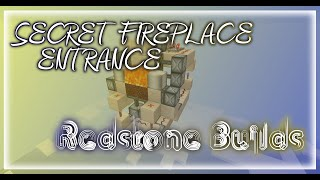 SECRET FIREPLACE ENTRANCE - Fire to stairwell and back in a second! | Redstone Build
